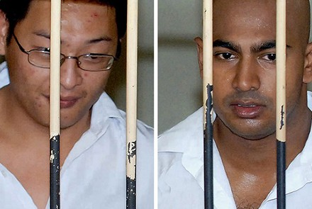 Andrew Chan (left) and Myuran Sukumaran - two Australians facing imminent execution in Indonesia. Photo by AFP.