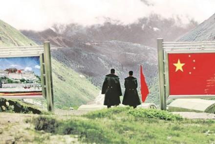 Image: India-China-Doklam border Flickr/BMN Network