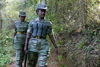 Girl soldiers of the Liberation Tamil Tigers of Elam (LTTE)