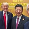 Donald Trump, Xi Jinping, and Malcolm Turnbull